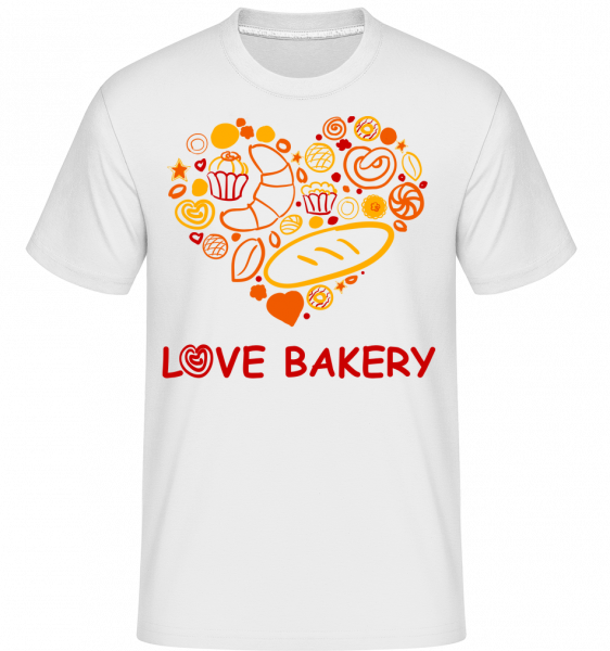 Love Bakery -  Shirtinator Men's T-Shirt - White - Vorn