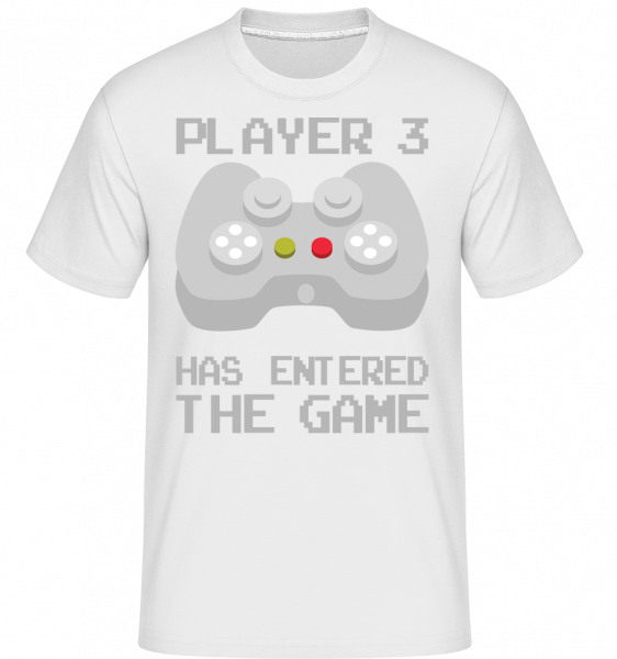 Player 3 Entered The Game - Shirtinator Men's T-Shirt - White - Vorn