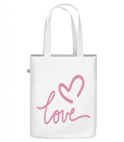 "Love - Organic ""Earth Positive"" tote bag - White - Vorn"