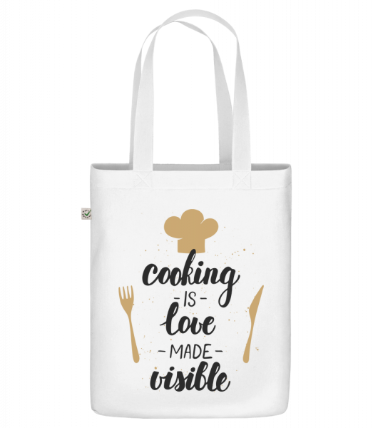 """Cooking Is Love Made Visible - Organic """"Earth Positive"""" tote bag - White - Vorn"""