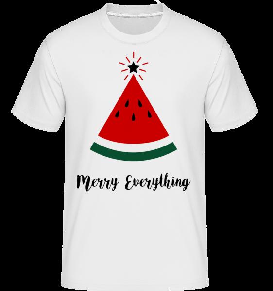 Merry Everything Christmas - Shirtinator Men's T-Shirt - White - Vorn