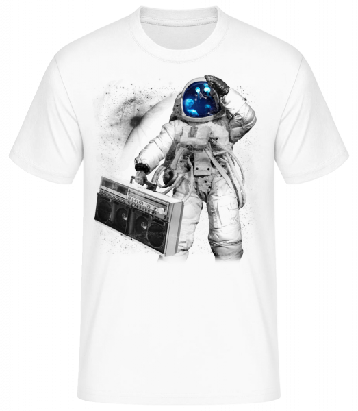 Ghettoblaster Astronaut - Men's Basic T-Shirt - White - Vorn