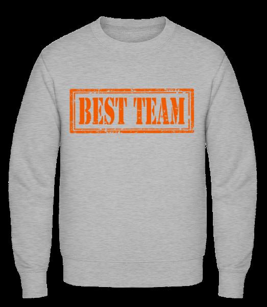 Best Team Sign - Classic Set-In Sweatshirt - Heather Grey - Vorn