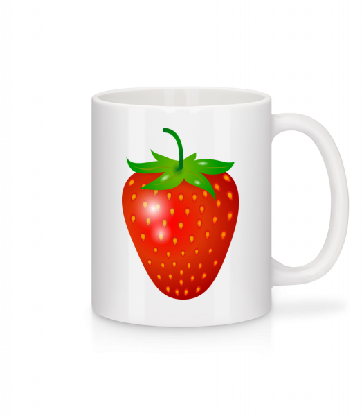 Strawberry - Mug - White - Vorn