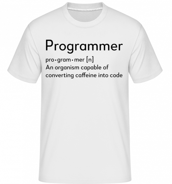 Programmer Definition -  Shirtinator Men's T-Shirt - White - Vorn