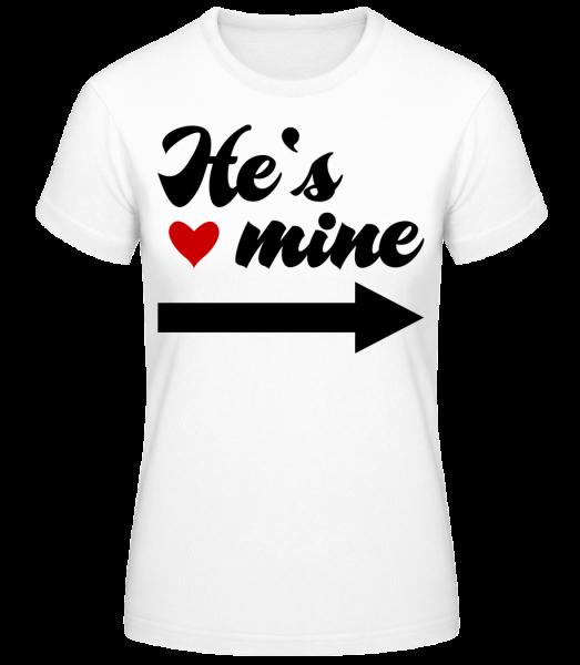 He's Mine - Basic T-Shirt - White - Vorn