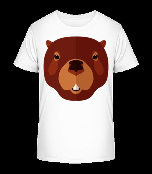 Beaver Comic - Kid's Premium Bio T-Shirt - White - Vorn