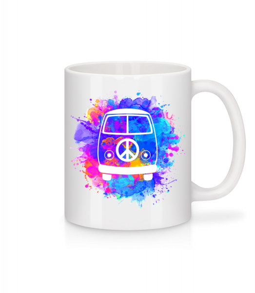 Hippie Bus - Mug - White - Vorn