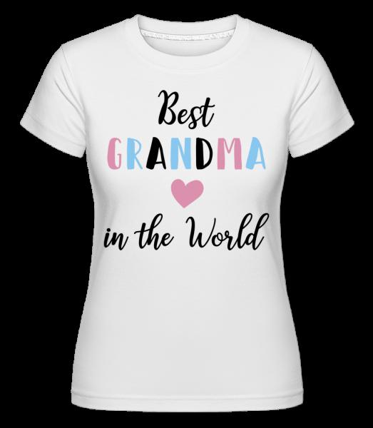 Best Grandma In The World -  Shirtinator Women's T-Shirt - White - Vorn