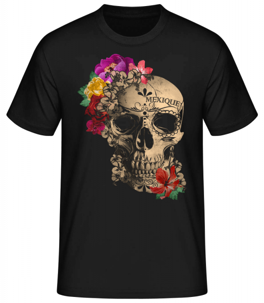 Skull Mexico - Men's Basic T-Shirt - Black - Vorn