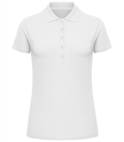 Women's Luxury Polo Shirt - White - Vorn