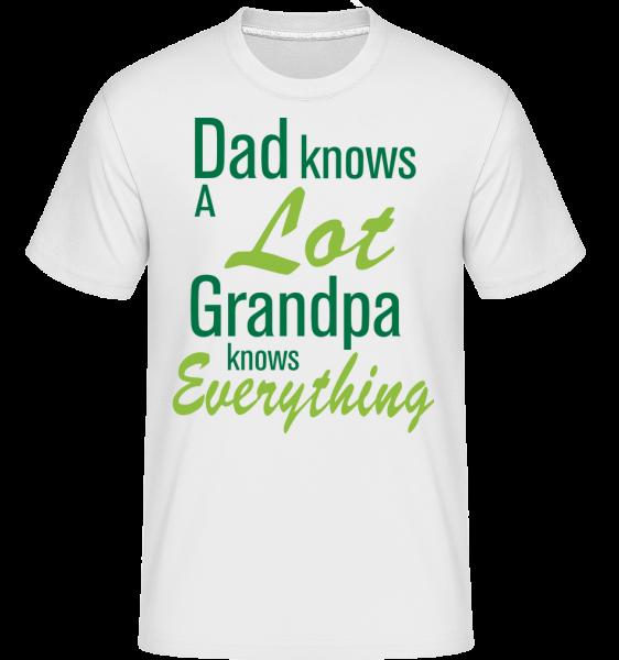 Grandpa Knows Everything - Shirtinator Men's T-Shirt - White - Vorn