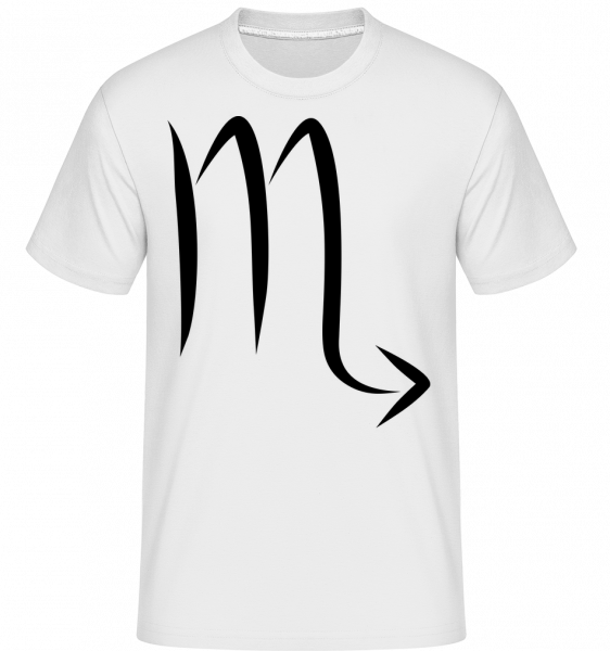 Scorpio Sign - Shirtinator Men's T-Shirt - White - Vorn