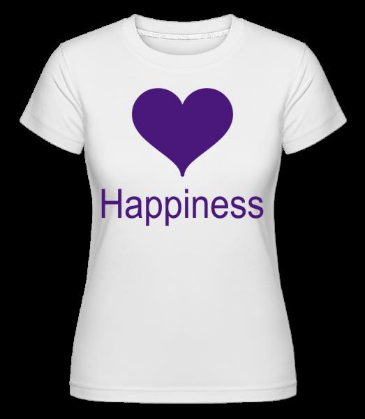 Happiness Heart -  Shirtinator Women's T-Shirt - White - Vorn