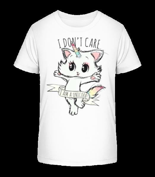 I Dont Care Unicorn - Kid's Premium Bio T-Shirt - White - Vorn