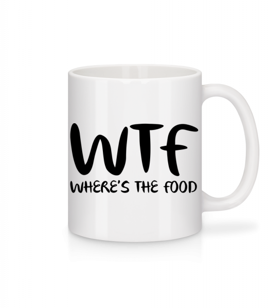 WTF Where's The Food - Mug - White - Vorn