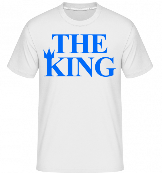 The King Blue - Shirtinator Men's T-Shirt - White - Vorn