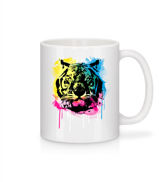 Multicolor Tiger - Mug - White - Vorn