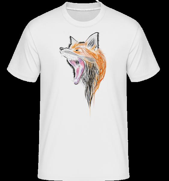 Howling Fox - Shirtinator Men's T-Shirt - White - Vorn