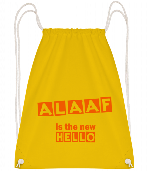 Alaaf Is The New Hello - Drawstring Backpack - Yellow - Vorn