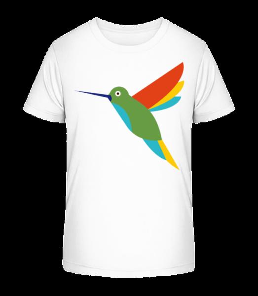 Hummingbird Comic - Kid's Premium Bio T-Shirt - White - Vorn