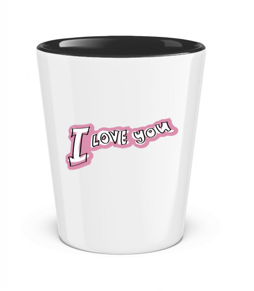 I Love You Lettering - Two-Toned Shot Glass - White - Vorn