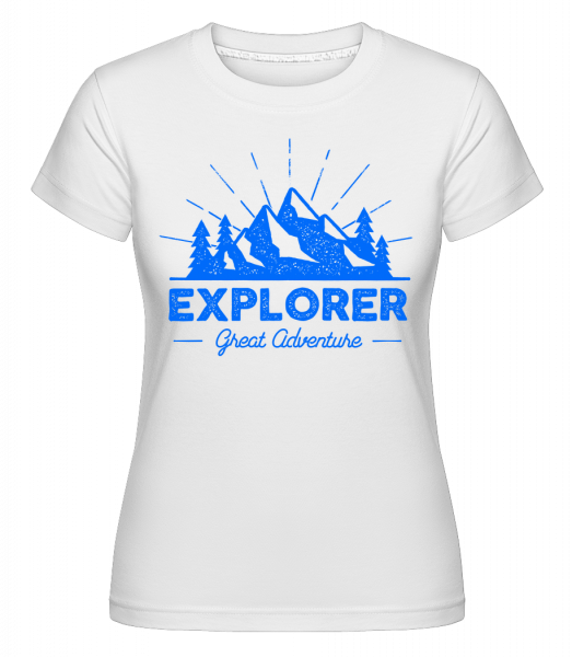 Explorer Great Adventures - Shirtinator Women's T-Shirt - White - Vorn