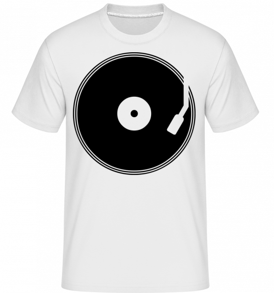 DJ Record - Shirtinator Men's T-Shirt - White - Vorn