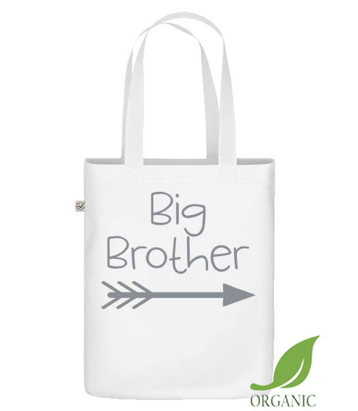 "Big Brother - Organic ""Earth Positive"" tote bag - White - Vorn"