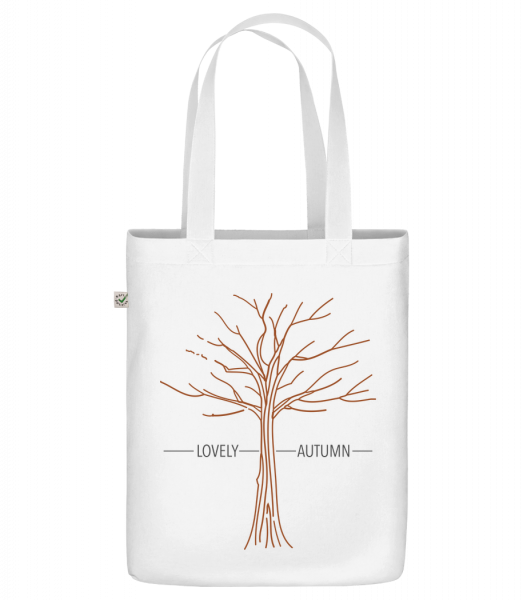 """Lovely Autumn - Organic """"Earth Positive"""" tote bag - White - Vorn"""