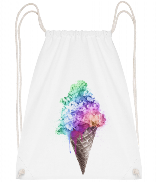 Rainbow Ice Cream - Drawstring Backpack - White - Vorn