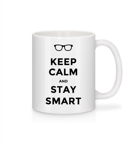 Keep Calm And Stay Smart - Mug - White - Vorn
