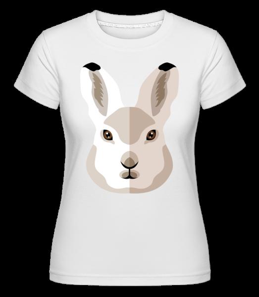 Bunny Comic Shadow - Shirtinator Women's T-Shirt - White - Vorn