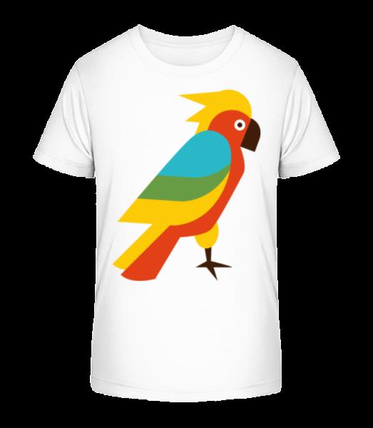 Parrot Comic - Kid's Premium Bio T-Shirt - White - Vorn