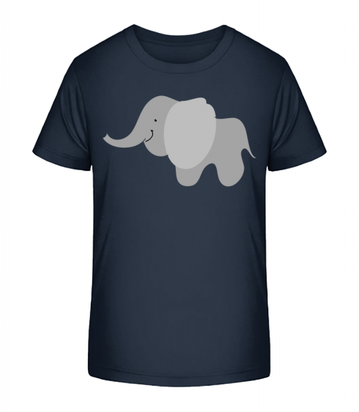 Kids Comic - Elephant - Kid's Premium Bio T-Shirt - Navy - Vorn