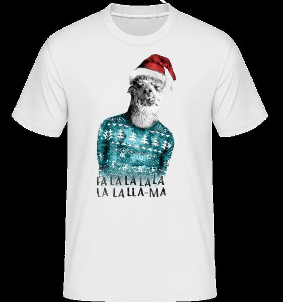 Christmas Lama -  Shirtinator Men's T-Shirt - White - Vorn