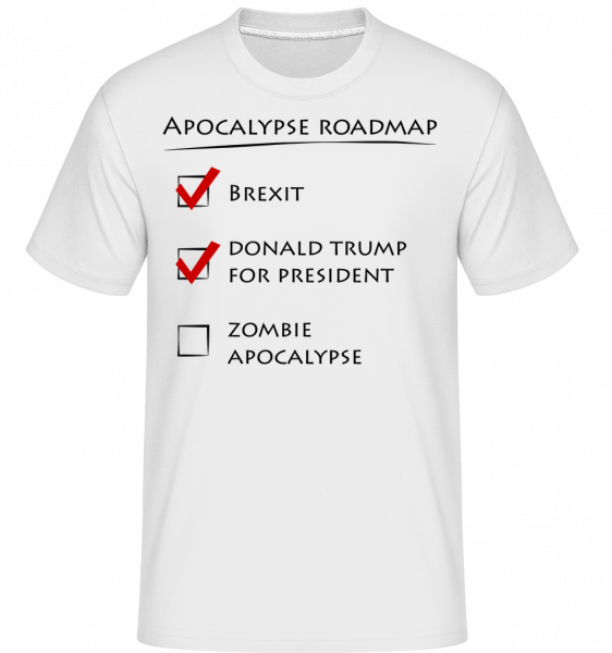 Apocalypse Roadmap - Shirtinator Men's T-Shirt - White - Vorn