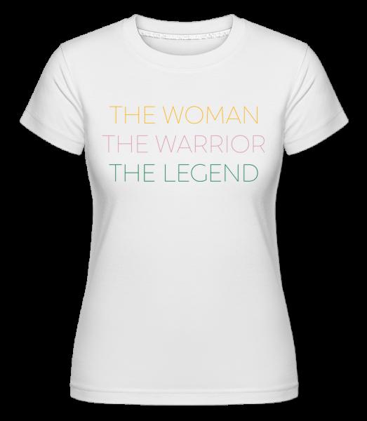 Woman Warrior Legend -  Shirtinator Women's T-Shirt - White - Vorn