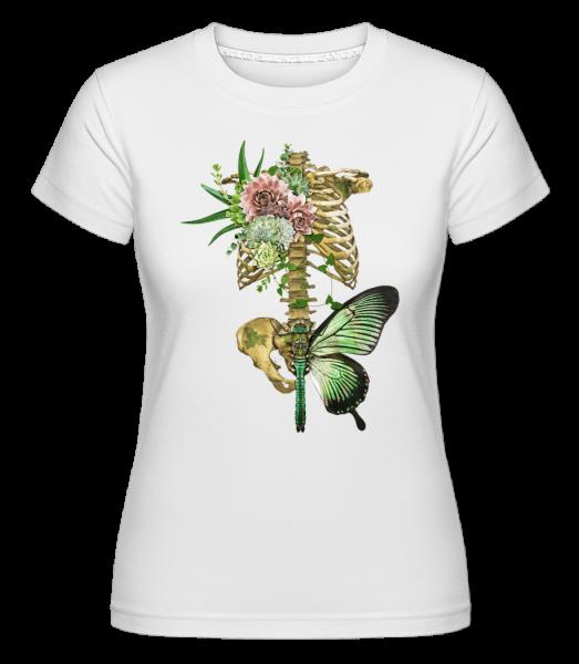 Artful Spine -  Shirtinator Women's T-Shirt - White - Vorn