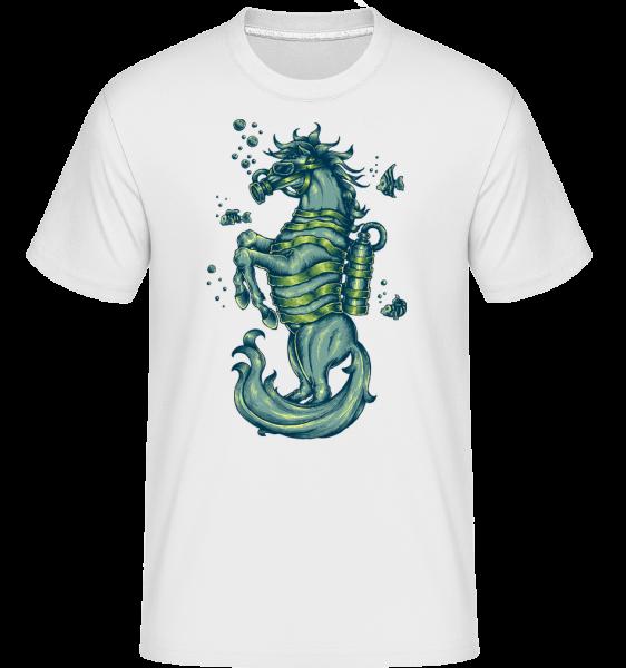 Gas Mask Horse -  Shirtinator Men's T-Shirt - White - Vorn
