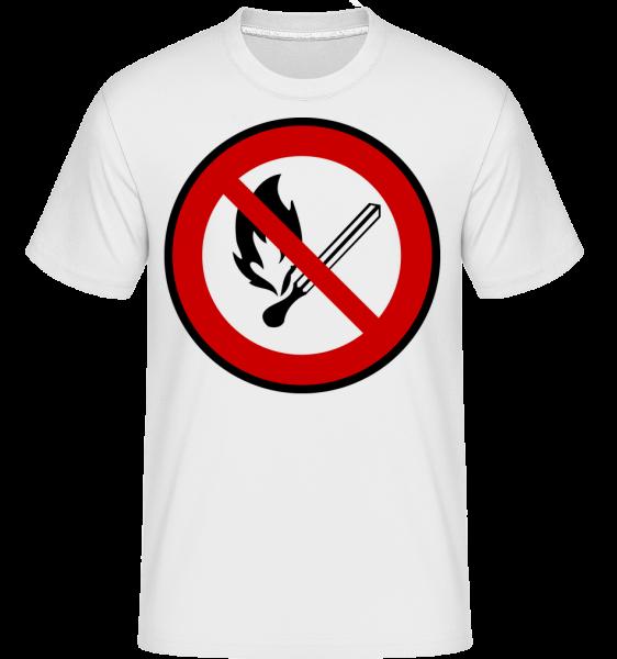 Fire Forbidden - Shirtinator Men's T-Shirt - White - Vorn