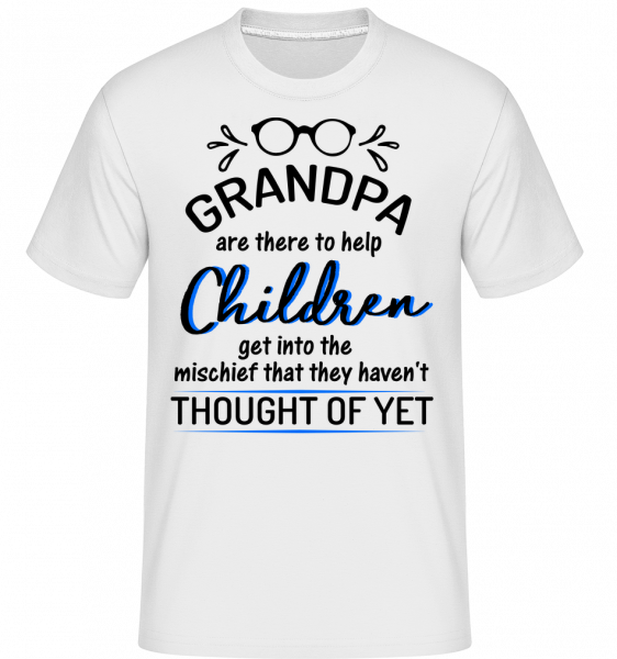 Granpas Are There To Help - Shirtinator Men's T-Shirt - White - Vorn