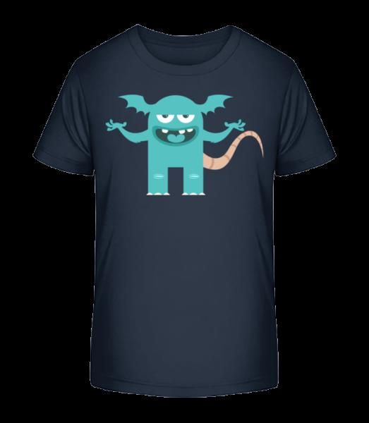 Funny Monster - Kid's Premium Bio T-Shirt - Navy - Vorn