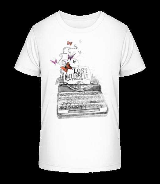 Lost Butterflys - Kid's Premium Bio T-Shirt - White - Vorn