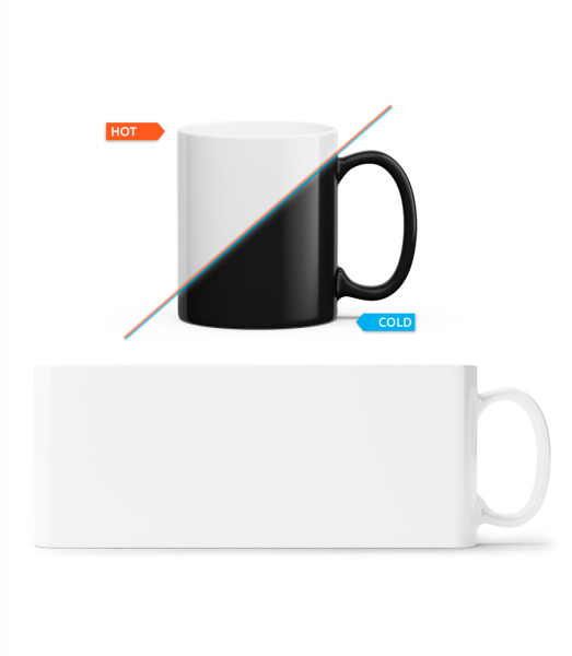 Colour Changing Mug - White - Vorn