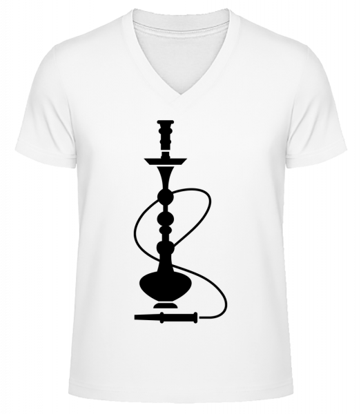 Shisha - Men's V-Neck Organic T-Shirt - White - Vorn