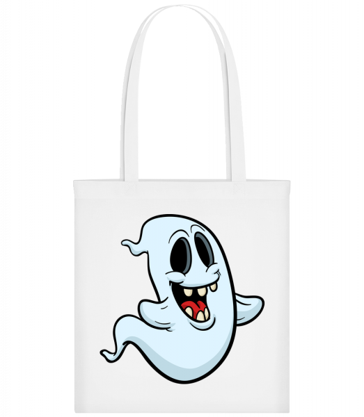 Cartoon Ghost - Carrier Bag - White - Vorn