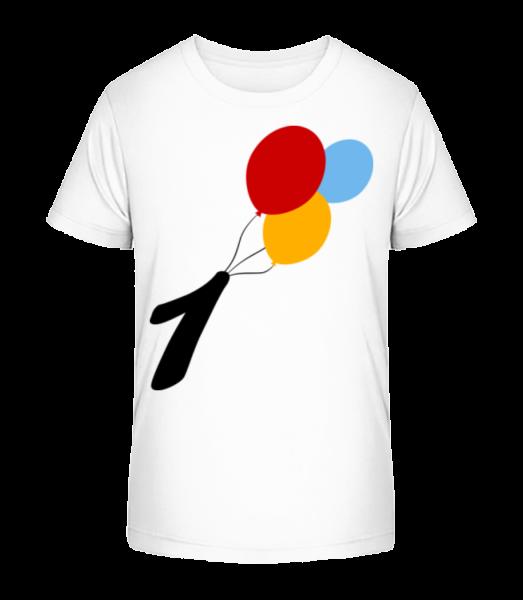 Anniversary 1 Balloons - Kid's Premium Bio T-Shirt - White - Vorn