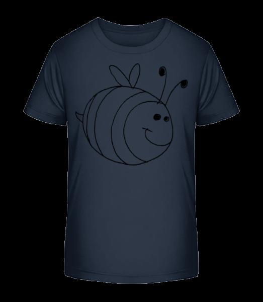Kids Comic - Bee - Kid's Premium Bio T-Shirt - Navy - Vorn