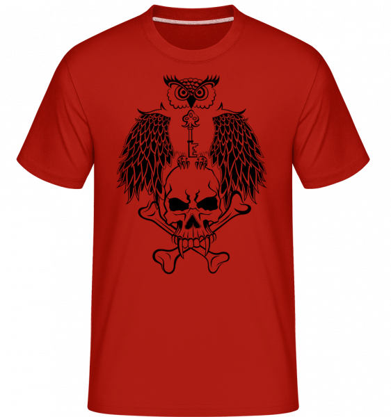 Guardian Of The Key Tattoo -  Shirtinator Men's T-Shirt - Red - Vorn